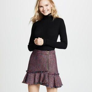 Dresses & Skirts - Veronica Beard Madra Boucle Tweed Mini Skirt  Red